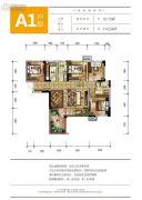 蓝光幸福满庭5室2厅2卫91平方米户型图
