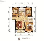 众美凤凰府3室2厅1卫115平方米户型图