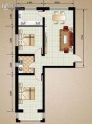 恒伟绿洲1室1厅1卫74平方米户型图