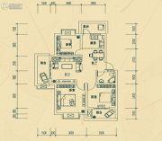 华瑞园3室2厅1卫80平方米户型图