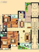 鸿泰华府4室2厅2卫154平方米户型图