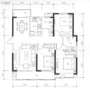 九街十八巷3室2厅2卫140平方米户型图