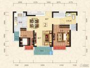 恒大绿洲2室2厅1卫81平方米户型图