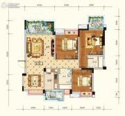 水润东都3室2厅2卫110平方米户型图