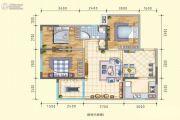 润莱8913室2厅1卫99平方米户型图