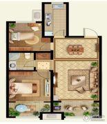 秀兰・禧悦都2室2厅1卫99平方米户型图