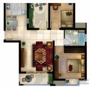 城置御水华庭2室2厅1卫88平方米户型图