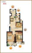 御山雅苑2室1厅1卫0平方米户型图