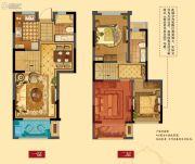 华润橡树湾四期3室2厅2卫107平方米户型图