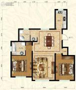 保利叶语2室2厅2卫97平方米户型图