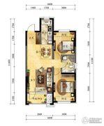 中海国际社区2室2厅1卫81平方米户型图