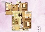 富力桃园3室2厅1卫89平方米户型图