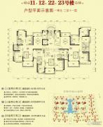恒大翡翠华庭3室2厅2卫129--150平方米户型图
