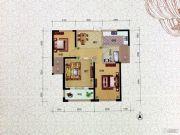 水岸明珠・新都2室2厅1卫88平方米户型图