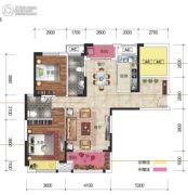 凯旋名门3室2厅2卫120平方米户型图