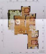 黔龙1号3室2厅2卫115平方米户型图