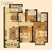 中梁香缇公馆3室2厅2卫89平方米户型图