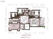 红树别院3室2厅2卫119平方米户型图