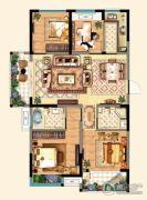 明发江湾新城4室2厅2卫123平方米户型图