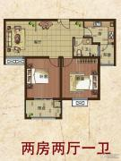 东方新卡纳2室2厅1卫0平方米户型图