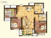 济南世茂天城3室2厅1卫100平方米户型图