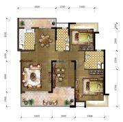 东城温泉里3室2厅2卫123平方米户型图