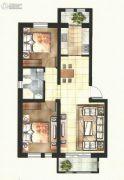 东方国际城2室2厅1卫86平方米户型图