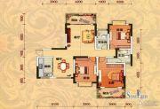 巨友中央公馆3室2厅2卫142平方米户型图