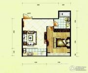 滨河国际1室1厅1卫39平方米户型图