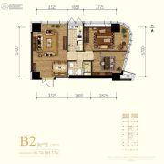 中冶・德贤MINI公馆2室1厅1卫96--105平方米户型图