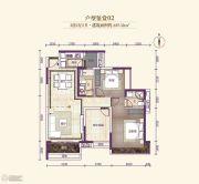 龙溪新城3室2厅2卫107平方米户型图