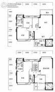 玉兰湖庭4室2厅4卫189平方米户型图