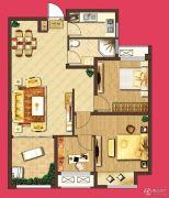 泰盈八千里3室2厅1卫93平方米户型图