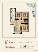招商・诺丁山Ⅱ期温莎郡3室2厅1卫0平方米户型图