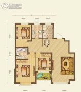 七星九龙湾3室2厅2卫137平方米户型图