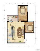 华建新城2室1厅1卫67平方米户型图