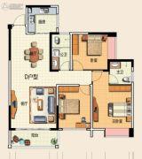 君悦商业广场3室2厅2卫122平方米户型图