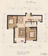 禧福 荷堂2室2厅1卫82平方米户型图