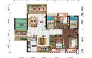 金穗・悦景台3室2厅2卫108平方米户型图