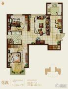 首开熙悦山熹园2室2厅1卫87平方米户型图
