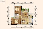 佳兆业广场2室2厅1卫66平方米户型图