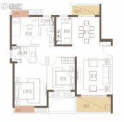 新力花园3室2厅2卫118平方米户型图