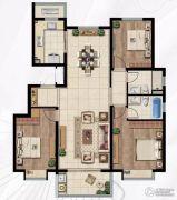 中海玄武公馆3室2厅2卫127平方米户型图