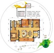中邦・御珑湾4室2厅2卫125平方米户型图