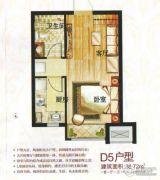 绿地・国际花都1室1厅1卫38平方米户型图