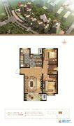 万和城2室2厅1卫102平方米户型图