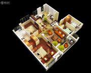 金丽园3室1厅2卫108平方米户型图