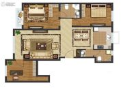 中国城建伦敦公元3室2厅2卫116平方米户型图