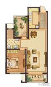 公元壹号2室2厅1卫80平方米户型图