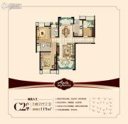 南通雅居乐花园3室2厅2卫119平方米户型图
